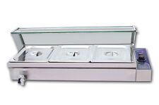Food Warmer 3-Pan Restaurant Bain-Marie Steam Table Warmer Steamer 1500W