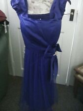 ladies evening dress in royal blue size 12/14' brand cherlone new with tags