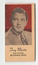American US Engrav-O-Tints Weighing Weight Machine Card US Singer Tony Martin