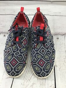 TOMS SNEAKER NATURAL CANVAS TEXTURED LACE  Multicolor Size W-9