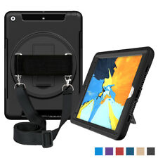 For iPad 4th Generation Case 360 Rotating Case Cover Built-in Screen Protector