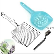 Cat Litter Scoop – Metal Non-Stick Cat Litter Sifter Scoop, Deep Shovel Set