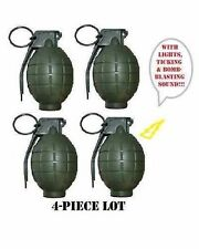 4Pack GREEN TOY Grenades WORKING  Pack U.S. SELLER! * BLACK FRIDAY SPECIAL*