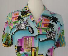 Vtg Tori Richards Harley Davidson Hawaiian Aloha Shirt Size XL Made in Hawaii