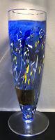 """Signed BERTIL VALLIEN KOSTA BODA Sweden Satellite Polychrome Glass Vase H 12"""""""