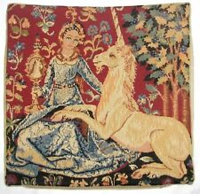 """LADY & THE UNICORN 5 SENSES, THE SIGHT 14"""" 35CM TAPESTRY CUSHION COVER WITH ZIP"""
