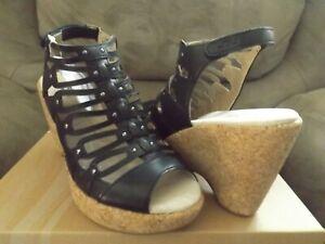 JBU by Jambu Lillian Women's Size 8 Shoes Black Wedge Heel Memory Foam JB16LIL01