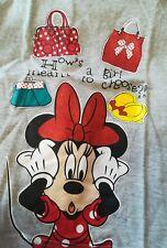 Maglietta maniche lunghe per bambina 8 anni nuovo shirt Disney Minnie grigio