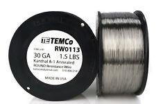 TEMCo Kanthal A1 wire 30 Gauge 1.5 lb (6213 ft) Resistance AWG A-1 ga