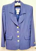 YVES SAINT LAURENT SUIT - 4 BUTTON JACKET WITH SKIRT - WAS $3890.00 NEW