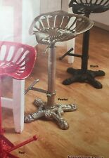 Industrial Bar Stool Tractor Saddle Seat Swivel Chair Height Adjustable