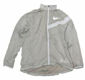 Nike Running Jacket Men's Beige Size L Fitness Jogging Sports Sale 833612 042