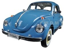 VOLKSWAGEN OLD BEETLE HARD TOP LIGHT BLUE 1/24 DIECAST MODEL CAR BY WELLY 22436