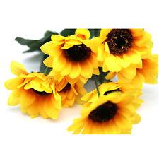 7 Heads Fake Sunflower Artificial Silk Flower Bouquet Home Floral Party Decor sm