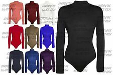 Polo Neck Patternless Body Stretch Tops & Shirts for Women