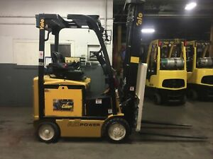 2016 Yale 4000 Lb Electric Forklift With Triple Mast And SS/FP
