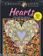 Romantic Hearts Adult Colouring Book Creative Art Therapy Relax Love Patterns