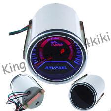 "New Universal Pointer Smoke 2"" 52mm Tint Len Car LED Air/Fuel Ratio Gauge Meter"