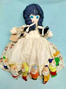 💙 Vtg Snow White 7 Dwarves Evil Queen & Witch Topsy Turvy Doll~RARE Mary Self!