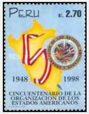 Timbre Pérou 1126 ** année 1998 lot 21088