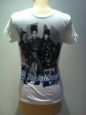 TOKIO HOTEL T-SHIRT Blue Logo BW Photo OFFICIAL MERCH SIZES Slim Fit SM & XLGE