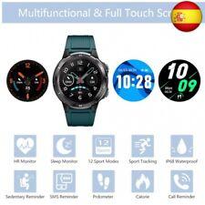 KUNGIX Smartwatch, Reloj Inteligente Hombre Impermeable IP68 con Pulsó  (Azul)
