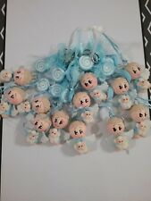 12 pcs Blue Baptism First Communion  KeyChain Bautizo Llavero Azul Favor Migajon
