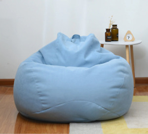 Lazy Sofa Cover Lounger Seat Bean Bag Chair Couch Living Room S/M/L Free Ship