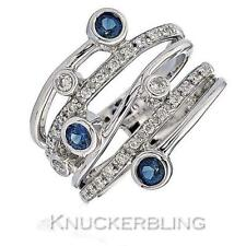 Wedding Band Natural Sapphire Fine Rings
