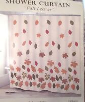 Avanti FALL LEAVES Shower Curtain Fabric Cottage Chic Autumn Leaf Brand New