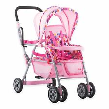 Joovy Doll Toy Caboose Stroller Pink Girls Boys Kid Pretend Play Toy Accessory
