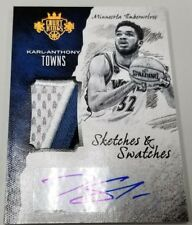 2016 2017 16-17 KARL-ANTHONY TOWNS PANINI COURT KINGS SKETCHES PATCH AUTO # / 25
