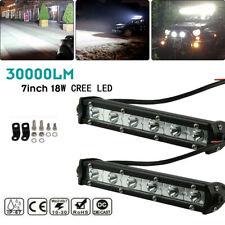 2× 7 inch LED Light Bar Flood Spot Combo for JEEP Offroad SUV ATV 4WD Wire Kit