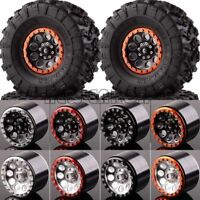 "Aluminum 2.2"" Beadlock Wheels & TIRES 2020-3022 FOR Axial Yeti/Wraith RC Crawler"