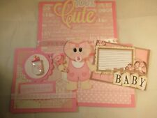 BABY GIRL  3D PAPER PIECING  SCRAPBOOK PAGE MAT SET