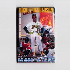 "RICKY HENDERSON / MAN OF STEAL 2"" x 3"" POSTER FRIDGE MAGNET costacos mlb oakland"