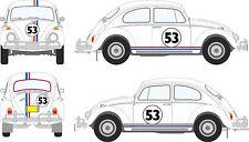 Kit Voiture Herbie 4 Gumballs 2 Bonet 6 Rayures sur les côtés extérieurs Vinyl LOVE BUG BEETLE