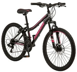 "New Mongoose Excursion Girl Mountain Bike, 24"" Wheel - BLACK/PINK In Hand!"