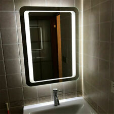 Mirror LED Illuminated Fogless Makeup Bathroom Wall Mounted Rectangular w/Lights