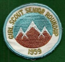 VINTAGE GIRL SCOUT - 1959 SENIOR ROUNDUP PATCH