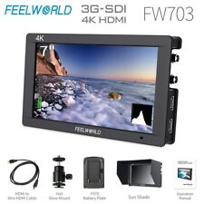 "FEELWORLD FW703 7"" IPS 3G SDI 4K HDMI On Camera Field Monitor Full HD 1920x1200"