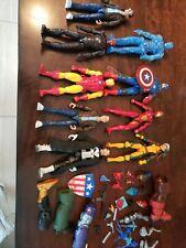 marvel legends comics figures lot 9, Rogue, modern cap, red skull, punisher more