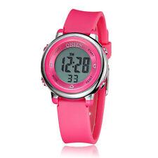 Ohsen Children Girls Rose Red 12/24 Hours DIGIT 5 Mode Light Quartz Wrist Watch