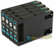 4 Cyan T7012 non-OEM Ink Cartridge For Epson Pro WP-4545DTWF WP-4595DNF