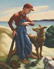 Thomas Hart Benton T P And Jake Canvas Print 16 x 20     #3930