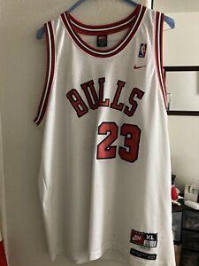 Michael Jordan Chicago Bulls White Jersey #23 New Basketball Throwback Men XL