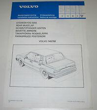 Einbauanleitung Volvo 740 / 760 Schmutzfänger hinten Stand August 1984!