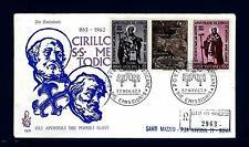 VATICANO - 1963 - 1100° Apostolato San Cirillo e San Metodio su FDC Venetia 2963