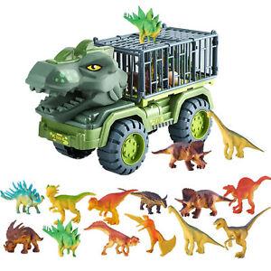 Kids Truck Toy Set Dinosaur Transport Car Carrier Truck Birthday Xmas Gift