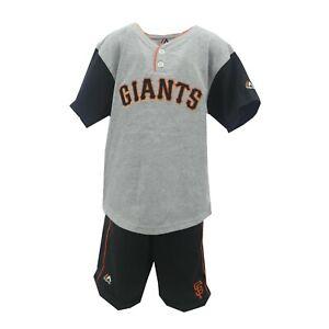 San Francisco Giants MLB Genuine Youth Kids Size Shirt & Shorts 2 Piece Set New